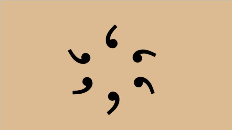 Apostroph-Zeichen im Kreis