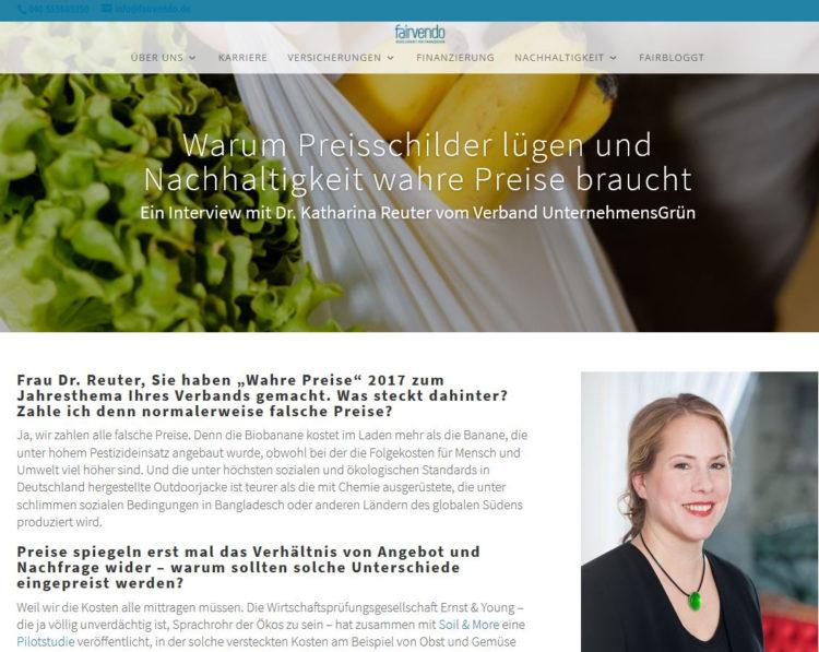 Screenshot Website fairvendo