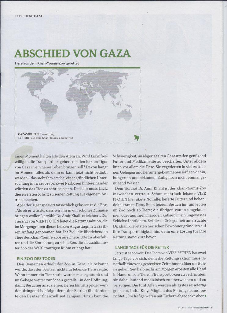 Artikel für ein Tierschutzmagazin