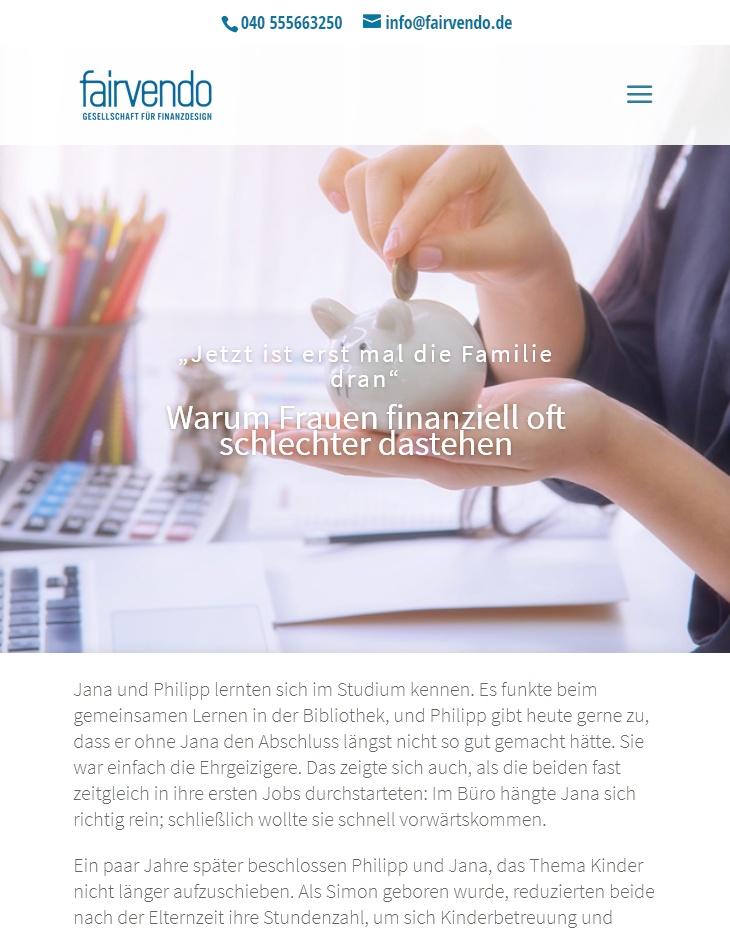 Texte für Blog und Newsletter – Finanzberatung