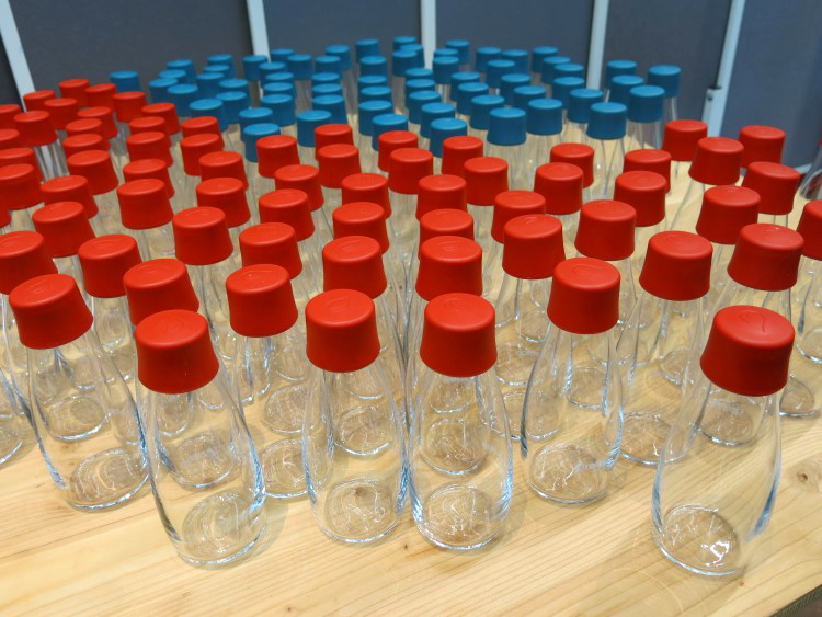 Glasflaschen für Leitungswasser