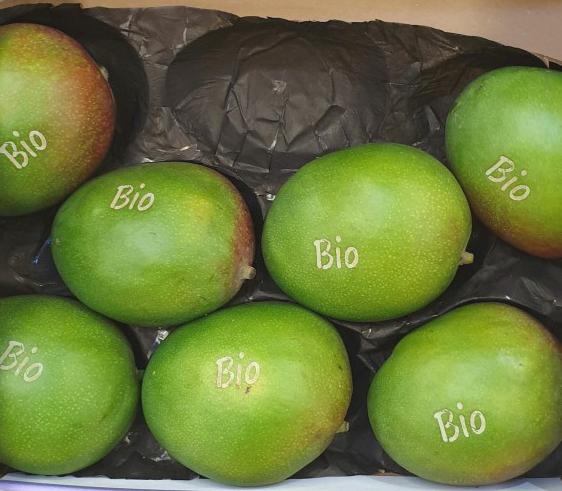 """Mangos mit Laseraufschrift """"Bio"""""""