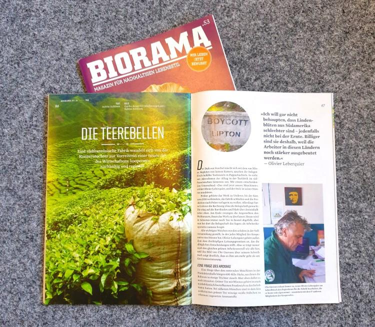 Verschiedene Nummern der Zeitschrift Biorama